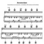 Coldplay: Amsterdam – Piano, Vocal, Guitar – Sheet Music