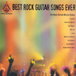 Best Rock Guitar Songs Ever songbook for guitar and voice