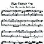 River Flows in You From the movie Twilight Sheet music