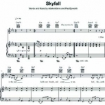 Skyfall Free sheet music for piano