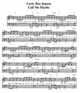Carly Rae Jepsen - Call Me Maybe - Vocal Sheet Music