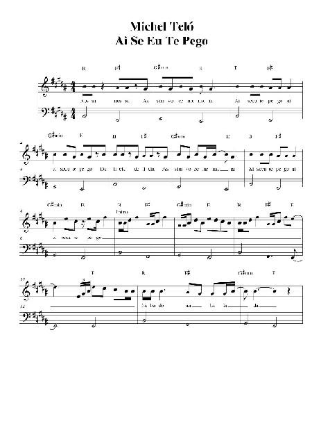 Michel Telo - Ai Se Eu Te Pego - Sheet Music