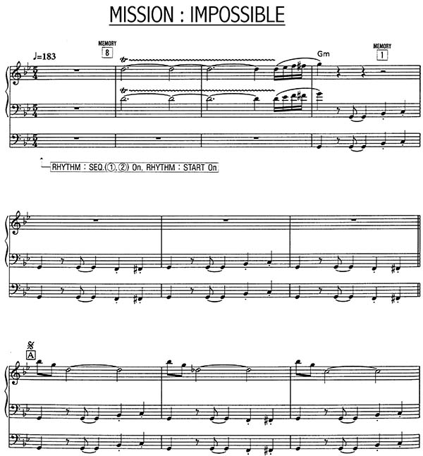 First Page of Mission Impossible Theme